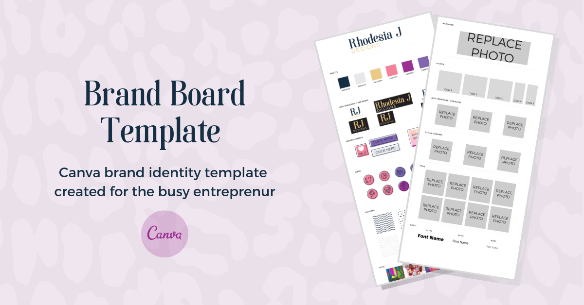 brand board template for canva