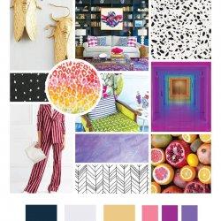 colorful mood board design