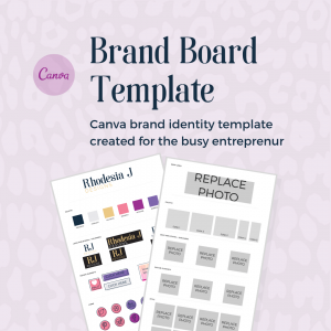 shop photo brand board template canva