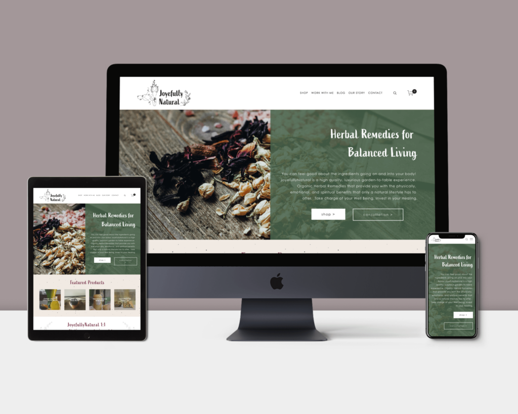 Natural Beauty Branding and Website